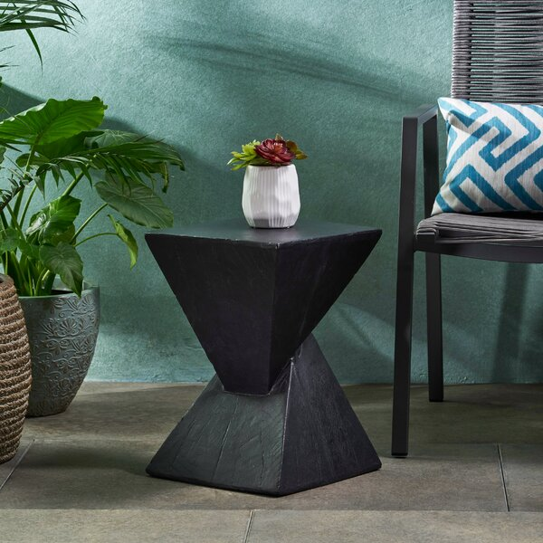 Hurley Outdoor Light-Weight Concrete Accent Table By Wrought Studio