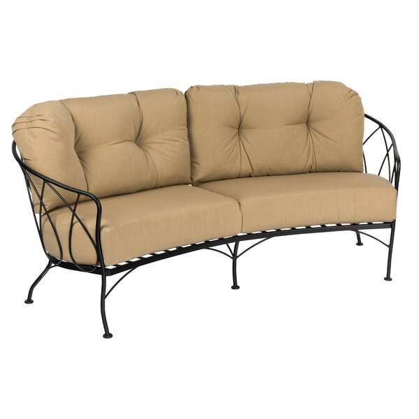 Delany Crescent Loveseat with Cushions by Woodard