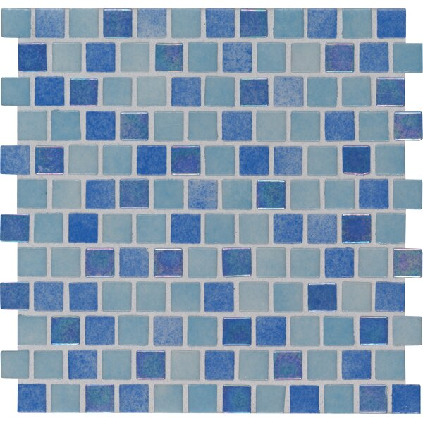 Hawaiian 1 x 1 Glass Mosaic Tile in Blue by MSI