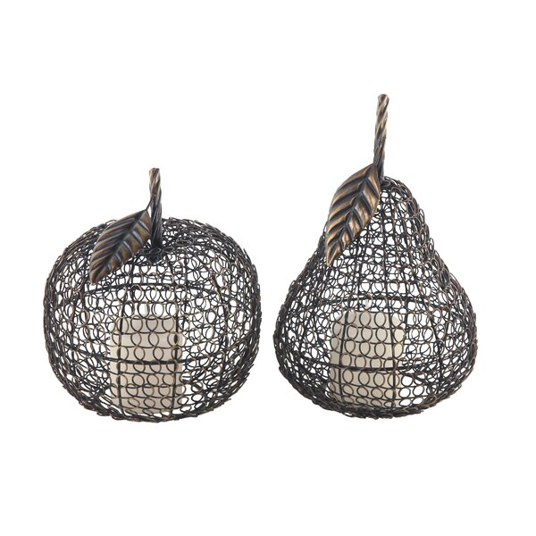 Stigall Traditional Iron Fruit 2 Piece Metal Sculpture Set by Winston Porter