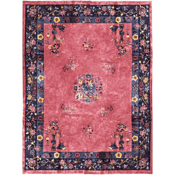 One-of-a-Kind Handwoven Wool Pink/Blue Indoor Area Rug by Bokara Rug Co., Inc.
