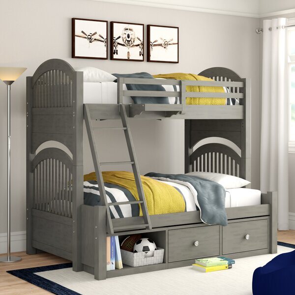 Nickelsville Twin Over Full Bunk Bed with 6 Drawers by Three Posts Baby & Kids
