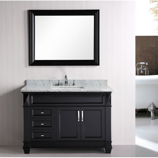 Rosalez 48 Single Bathroom Vanity Set with Mirror by Latitude Run
