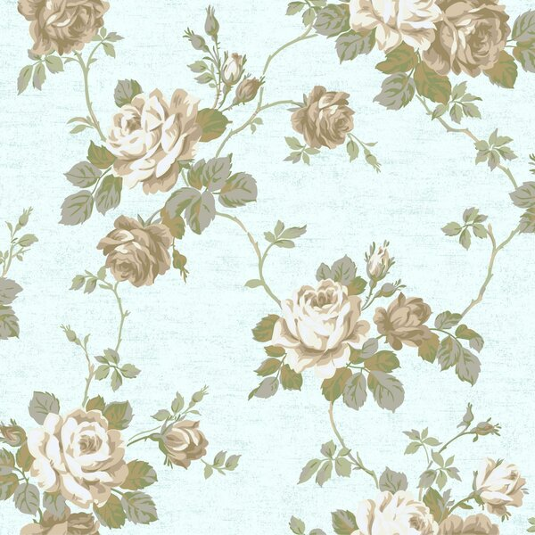 Luminous Lavender Floral Trail Wallpaper Roll by York Wallcoverings