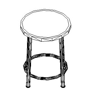 Height Adjustable Stool with Swivel by Shain