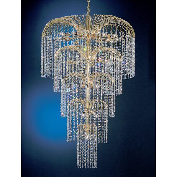 Greeson 26-Light Unique / Statement Tiered Chandelier by House of Hampton House of Hampton