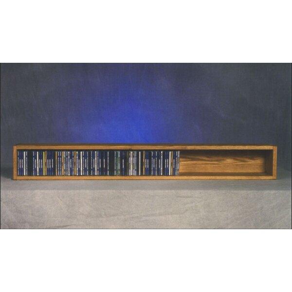 100 Series 118 CD Multimedia Tabletop Storage Rack by Wood Shed