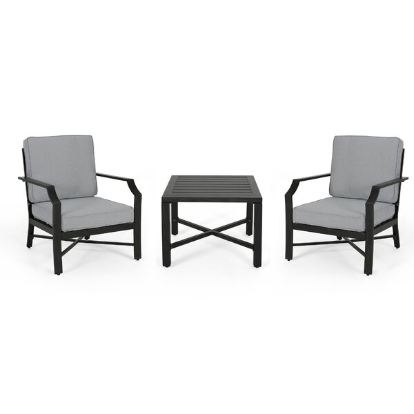 Revilla 3 Piece 2 Person Seating Group by Canora Grey