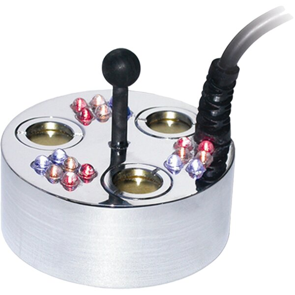 3 Jet Pond Fogger, 18 LED Lights, Transformer and Ring by Alpine