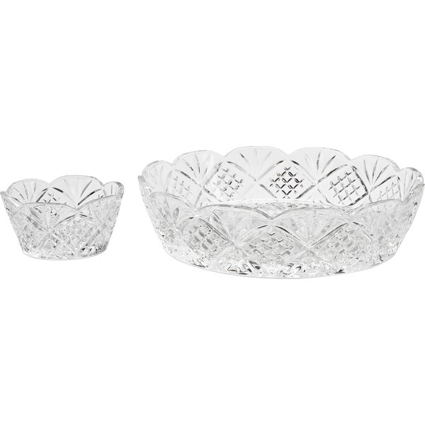Precious 2 Piece Chip and Dip Set by Circle Glass