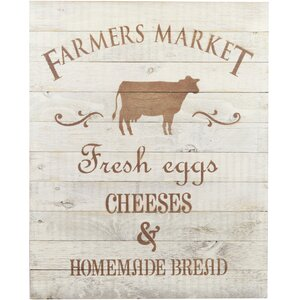 In-A-Word Farmer's Market Fresh Eggs, Cheeses and Homemade Bread Wall Décor by Fireside Home