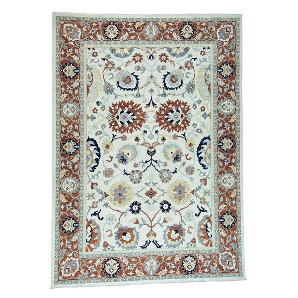 One-of-a-Kind Bagby Sultanabad Hand-Knotted Ivory Area Rug by Isabelline