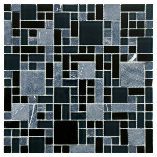 Sierra Random Sized Glass/Stone Mosaic Tile in Versailles Bizancio by EliteTile