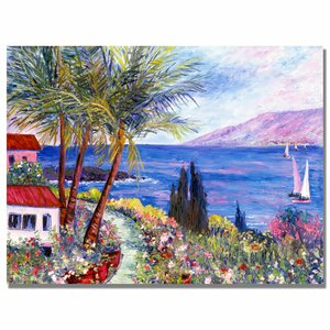'Villa in Maui' by Manor Shadian Painting Print on Canvas by Trademark Fine Art
