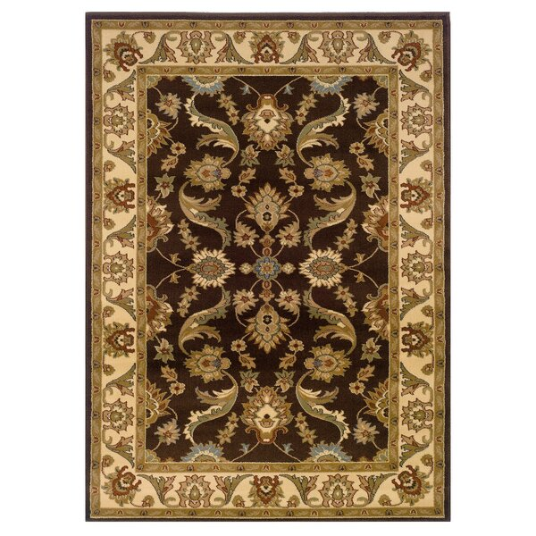 Rowena Persian Brown/Cream Area Rug by Charlton Home