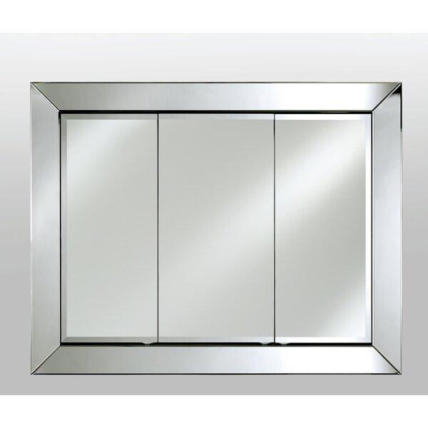 Benninger Recessed Framed Medicine Cabinet with 12 Adjustable Shelves