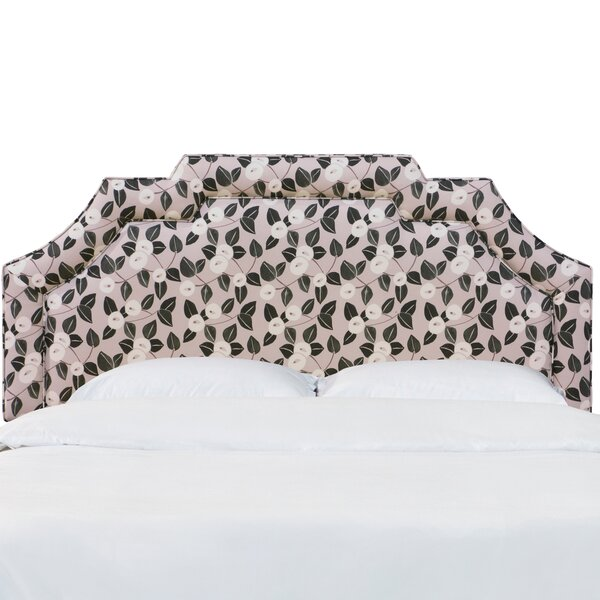 Ballsallagh Notched Border Dorset Floral Upholstered Panel Headboard by Darby Home Co