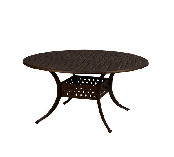 Aldrich Metal Dining Table by Fleur De Lis Living