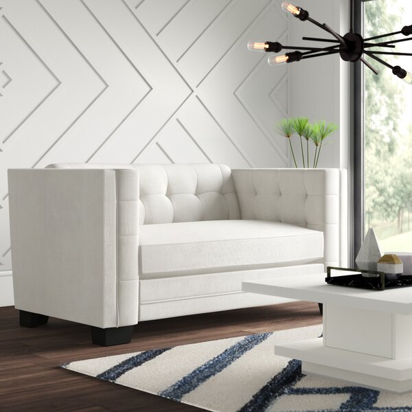Rolland Chesterfield Loveseat by Mercury Row