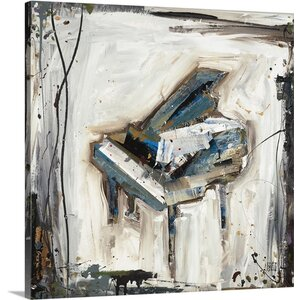 'Imprint Piano' by Kelsey Hochstatter Painting Print on Canvas by Canvas On Demand