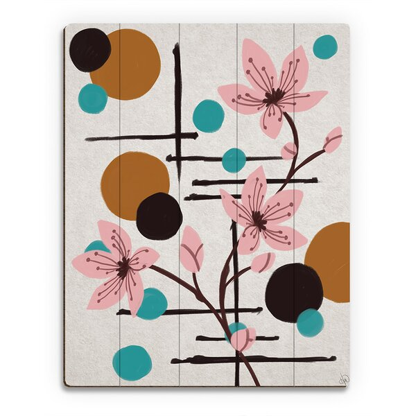 Winding Flowers and Moons Painting Print on Plaque by Click Wall Art