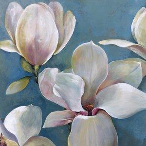 Magnolia I Painting Print on Wrapped Canvas by Portfolio Canvas Decor