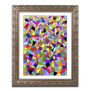'Shards Colored' by Kathy G. Ahrens Framed Graphic Art by Trademark Fine Art