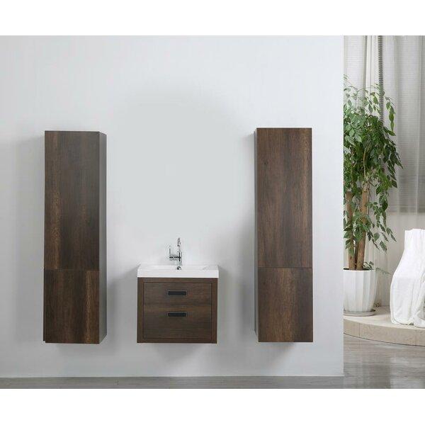 24 Wall Mounted Single Bathroom Vanity Set by Streamline Bath