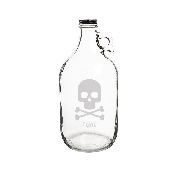 Personalized Skull and Crossbones 64 Oz. Craft Beer Growler by Cathys Concepts
