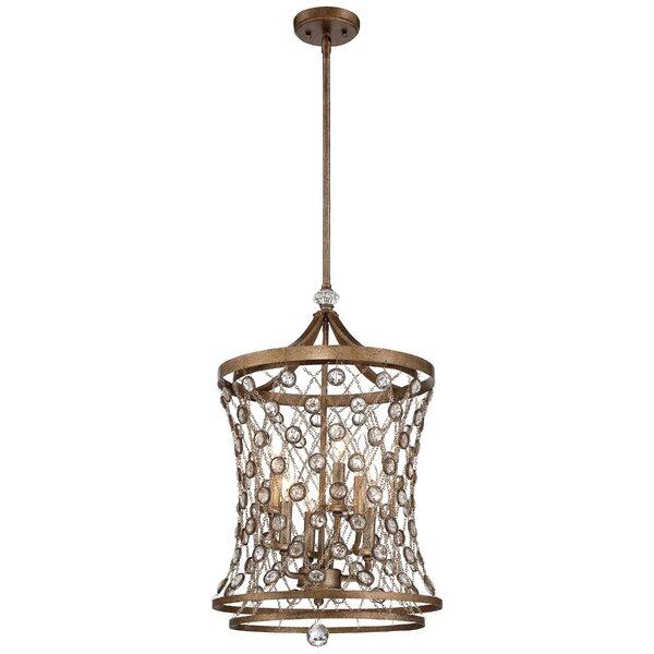 Vel Catena 6 - Light Lantern Geometric Chandelier by Metropolitan by Minka Metropolitan by Minka