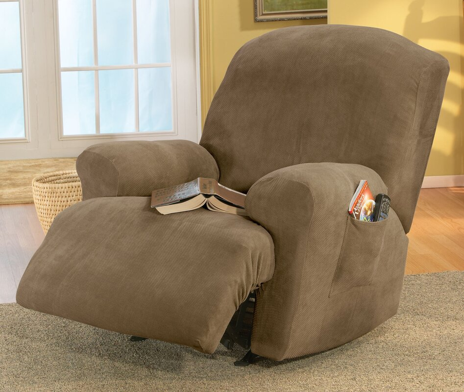 Stretch Pique T-Cushion Recliner Slipcover & Sure Fit Stretch Pique T-Cushion Recliner Slipcover u0026 Reviews ... islam-shia.org