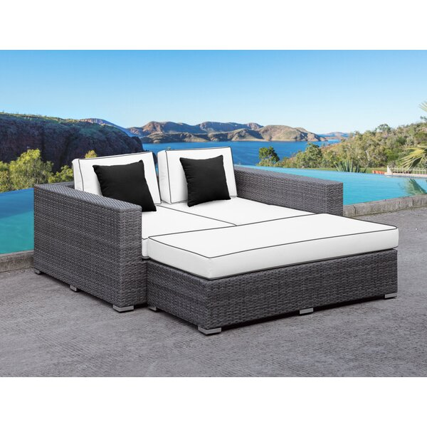 Roslindale 2 Piece Patio Daybed with Cushions by Orren Ellis