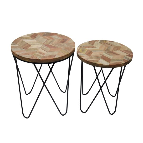 Nibbi Solid Wood 4 Legs Nesting Tables By Foundry Select