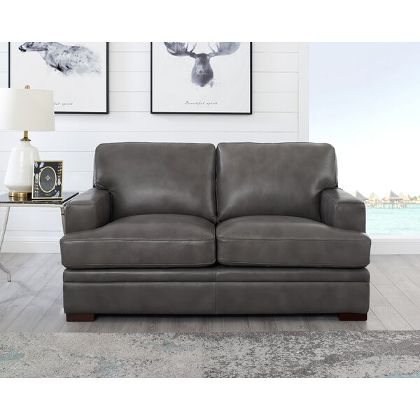 Best Eriksay Leather Loveseat