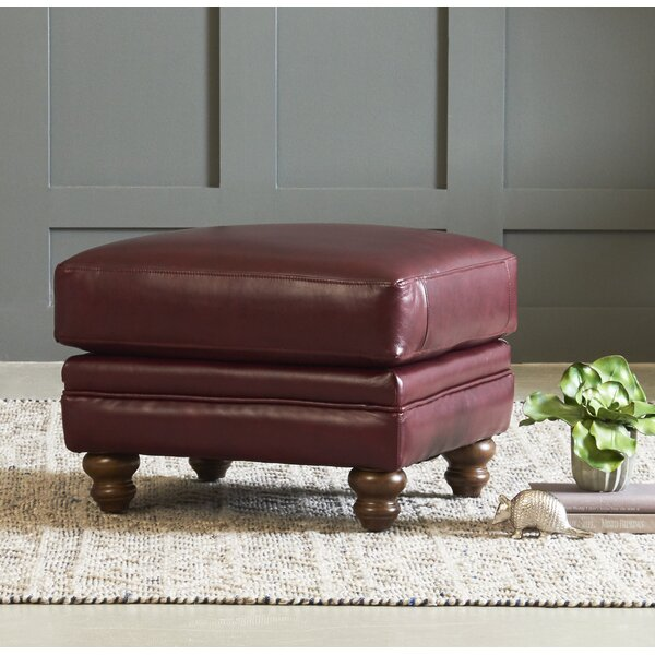 Spiers Leather Ottoman By Wayfair Custom Upholstery™
