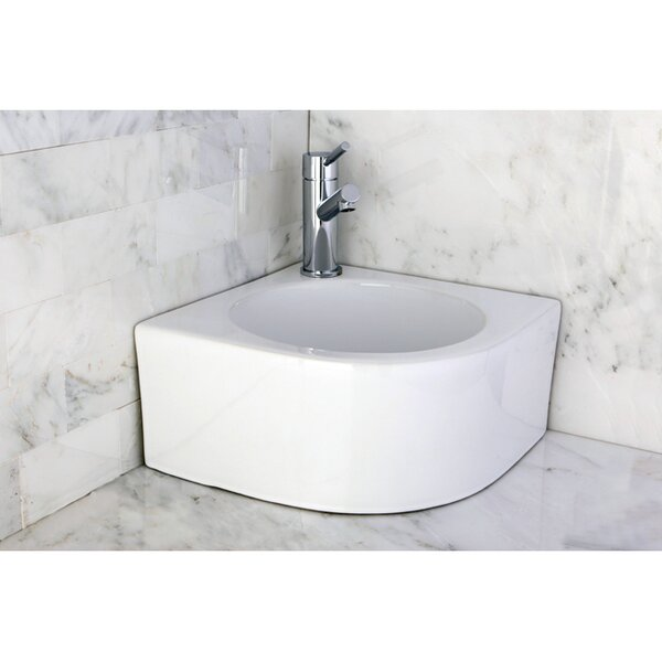 Manhattan Ceramic Specialty Wall-Mount Bathroom Sink by Kingston Brass