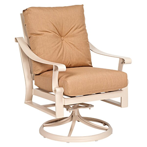 Bungalow Swivel Rocking Chair with Cushion by Woodard