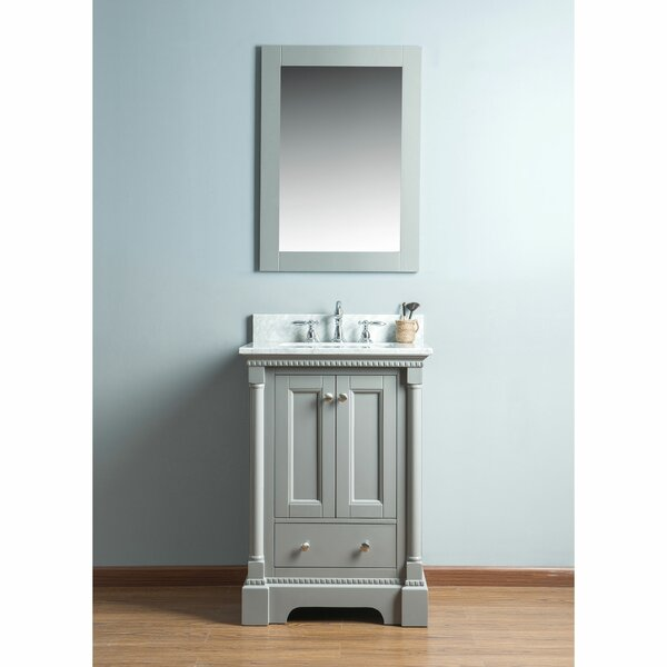 Rayleigh 24 Single Bathroom Vanity Set with Mirror by Charlton Home