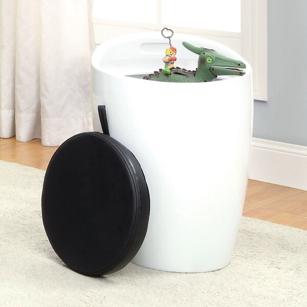 Kitalpha Storage Stool with Padded Seat by Orren Ellis