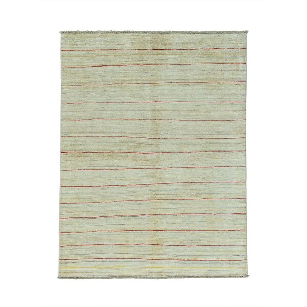 One-of-a-Kind Ferriera Peshawar Oriental Hand-Knotted Beige Area Rug by Latitude Run