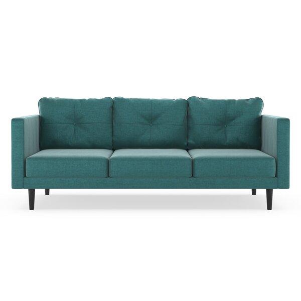 Review Cozad Mod Velvet Sofa