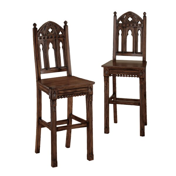 Sudbury Gothic 30 Bar Stool (Set of 2) by Design Toscano