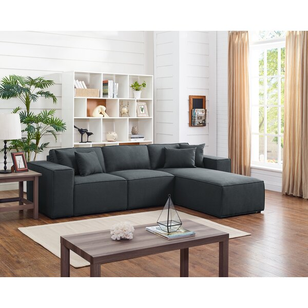 Necaise Reversible Modular Sectional by Gracie Oaks