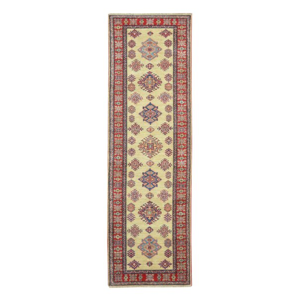 Kazak Hand-Knotted Red/Beige Area Rug by Wildon Home ®