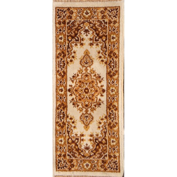 Elkland Tabriz Classical Anatolian Turkish Oriental Wool Beige/Brown Area Rug by Bloomsbury Market