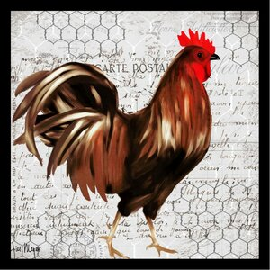 'French Rooster I Poster' by Jill Meyer Framed Graphic Art by Buy Art For Less