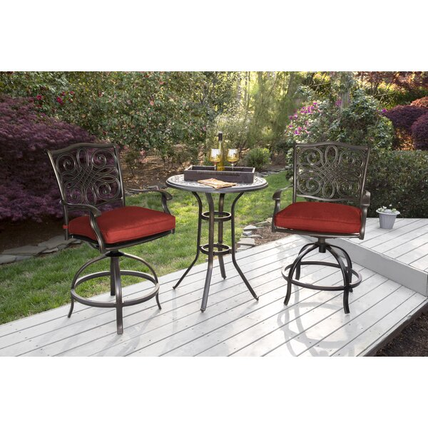 Carleton 3 Piece High Dining Bistro Set by Fleur De Lis Living