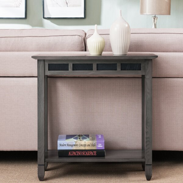 Glastonbury Slate Console Table by Charlton Home