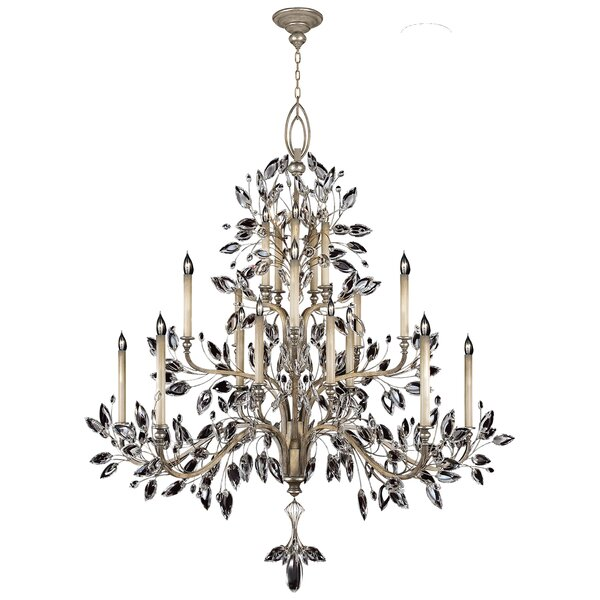 Crystal Laurel 20 - Light Candle Style Empire Chandelier by Fine Art Lamps Fine Art Lamps
