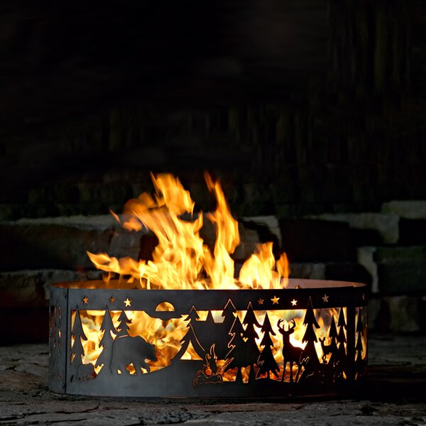 Northwoods Steel Wood Burning Fire ring by P & D Metal Works